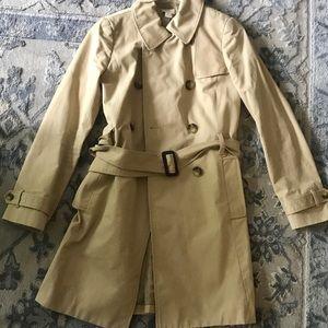 Jcrew woman's iconic trench coat